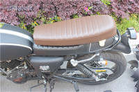 Assento da motocicleta Universal Mash Corcova Do Banco do Piloto do Café Racer Assento Assento Marrom Retro Locomotiva Sima Almofada Da Sela Da Motocicleta