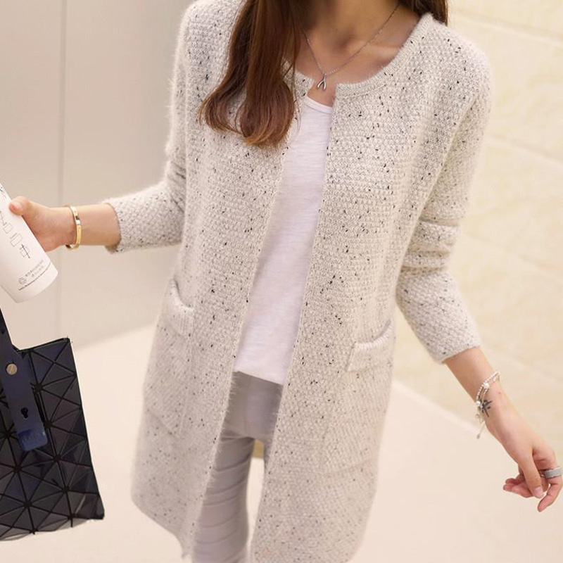 0c6c7ca93e2 New Winter Women Casual Long Sleeve Knitted Cardigans 2016 Autumn Crochet Ladies  Sweaters Fashion Cardigan Top Quality-in Cardigans from Women s Clothing on  ...