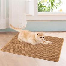 Коврик-Когтеточка для кошек из натурального сизаля, прочный Когтеточка для кошек, Когтеточка для кошек, защитные мебельные принадлежности