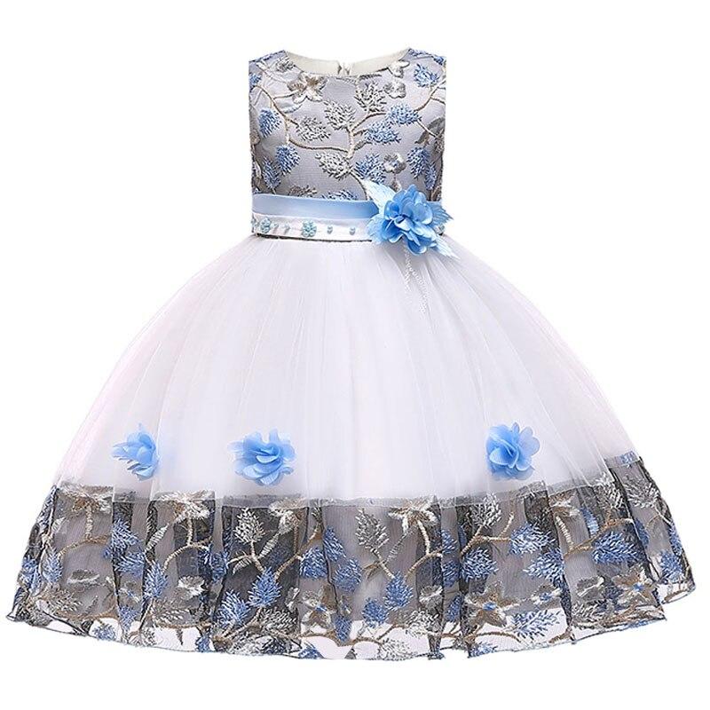 Flower     girl     dresses   embroidery mesh   girl     dresses   for weddings pageant   dresses   for kids children's clothing baby costume L5045
