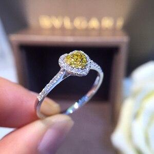 Image 4 - Naturale Diamante 18K Oro Anello di Oro Puro Bella Pietra Preziosa Anello di Buona di Lusso Alla Moda Del Partito Classico Gioielleria Raffinata Vendita Calda Nuovo 2020
