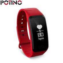 Potino умный Браслет C1S smart Сердечного ритма крови Давление смарт-браслет Фитнес браслет, трекер активности для iOS и Android