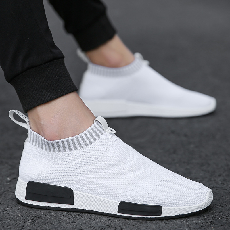 Cork Sock Shoes Sneakers Slip-On Lightweight Air-Mesh Breathable Casual Summer Men