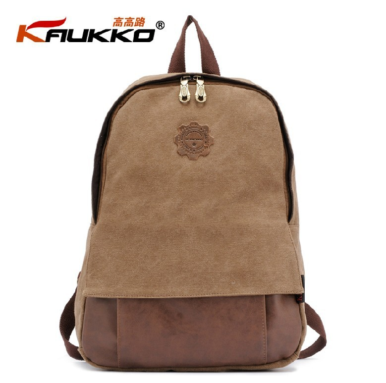 Kaukko Fj18 Fashion Students Backpack 100 Cotton Canvas Preppy Style Men Casual Bag Women