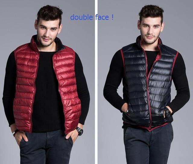 Men Winter Coat Warm Sleeveless Jacket Brand New Men's Fashion Outerwear Casual Vest Male Waistcoat double face