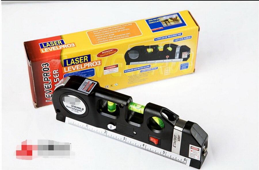 DHL 50 pieces Multipurpose Laser Level Horizon Vertical Measure Tape Aligner 8FT Free shipping Drop shipping