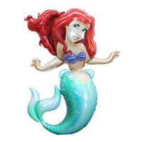 BINGTIAN film Mermaid Princess sea daughter filled with helium gas balloon birthday party wholesale cartoon children's