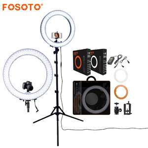 FOSOTO RL-18 18 inch Led Ring Light Camera With Big Bag Box Tripod Stand Ring Lamp