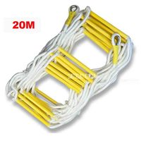 20M Rescue Rope Ladder 4 5th Floor Escape Ladder Emergency Work Safety Response Fire Rescue Rock Climbing Anti skid Soft Ladder