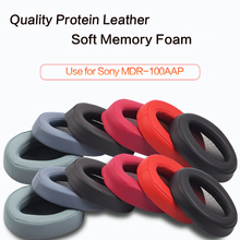 1pair Replacement Ear Pad Earpads Cushion For Sony MDR-100AAP 100A H600A Headphones headset cover With Free Rotate Cable Clip 1pair replacement ear pad earpads cushion for sony mdr 100aap 100a h600a headphones headset cover with free rotate cable clip