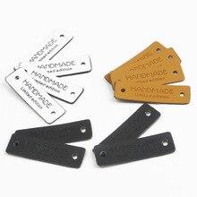 12 шт. Ретро этикетки для пришивания на одежду из искусственной кожи 3 цвета для украшения джинсов сумки обувь шляпа ручной работы Ограниченная серия этикеток