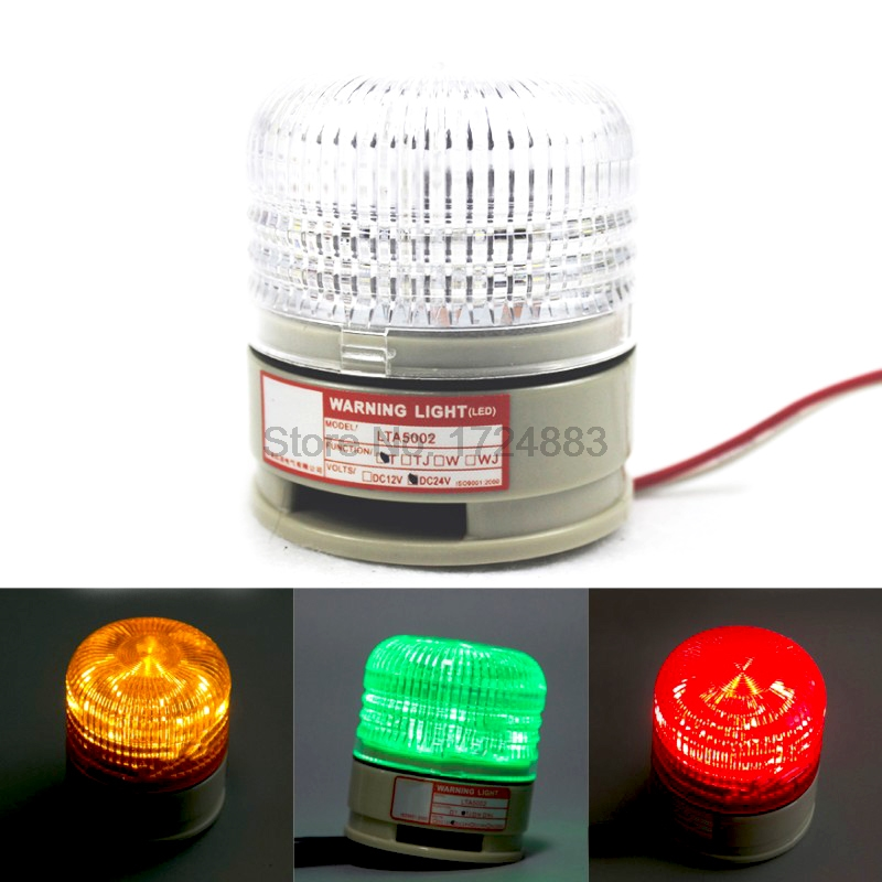 Three Colour Strobe Signal Warning Light LTA5002 12V 24V Indicator Light LED Lamp Small Flashing Light Security Alarm