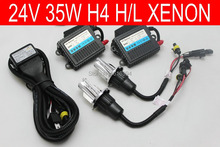 Free shipping 24V,35W,H4H/L High low Bi xenon HID car headlight kit,3000k,4300k,6000k,8000k,10000k,all truck s