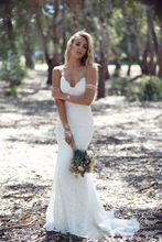 2018 Spring Summer Bohemian Wedding Dresses Sexy Mermaid Spaghetti Straps Floor Length Backless Lace Bridal Gowns