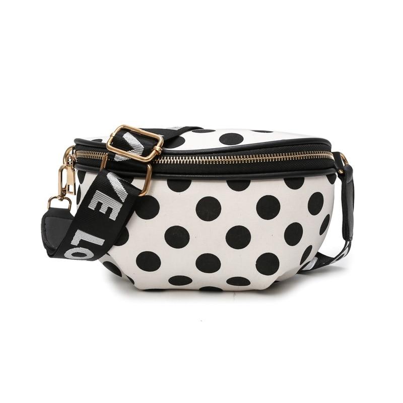Belt-Bag Polka-Dot Cute Messenger-Bag Pocket Girls Female Fashion Ladies Travel Convenient