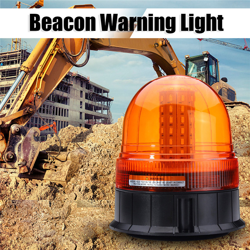 12W 60 LED  Roadway Safety Emergency Lamp Vehicle Flash Stobe Rotating Beacon Warning Light Traffic Light