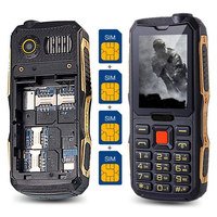 NEW 4 Sim Cards 4 Standby Mobile Phone K999 2 4 Screen Outside FM Radio Quad