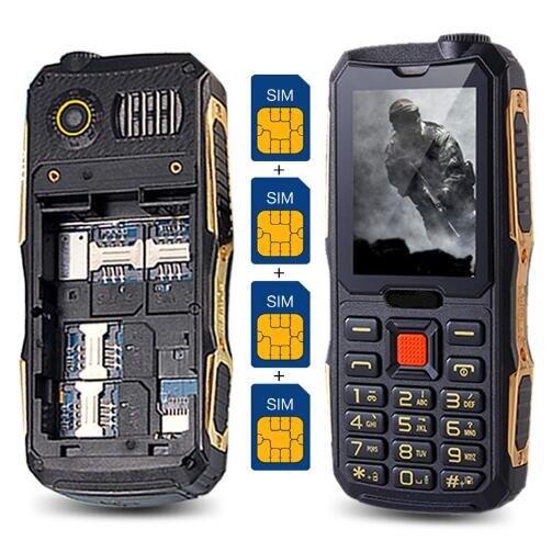 4 Cartes Sim 4 Veille téléphone 2.4 ''Écran Extérieur FM Quad Sim Téléphone portable Russe Hébreu Grec Langue pas cher téléphones H-mobile