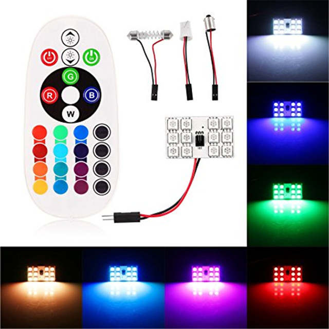 Colorful Dc T10 10Off Led Lamp Decorative Auto Lights 82 Interior 12v 10pcs Rgb Car Atmosphere In From 5050 Controlled Us26 12smd Remote T1Jc3KlF