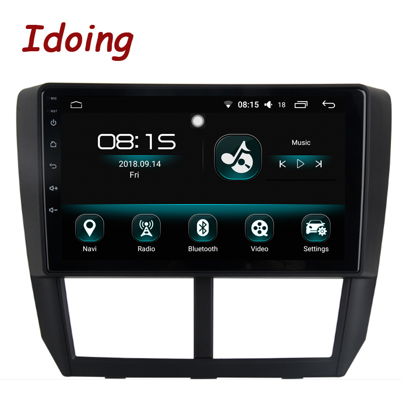 Lecteur multimédia GPS autoradio idid 1Din 9 Android8.0/7.1For Subaru Forester 2008-2012 4G + 64G Octa Core Navigation démarrage rapide