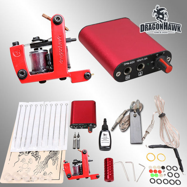 Starter Tattoo Kit 1 Machine Guns 1 Inks Power Supply Needles