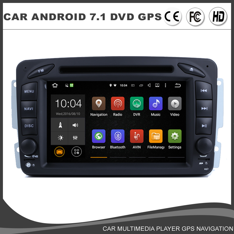 <font><b>Android</b></font> 7.1.1 Car DVD <font><b>GPS</b></font> Player For <font><b>Mercedes</b></font> Benz <font><b>W203</b></font> W209 W463 Vito Viano Radio BT 1024*600 Wifi Mirror Link 2GB RAM+16G ROM image