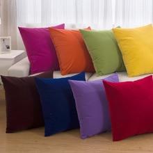 New 11 colors High grade Plush hot cushion Solid color throw Modern home decor pillows cushion Free shipping A-27