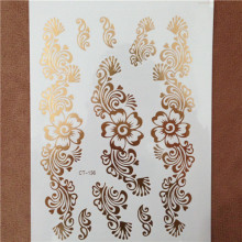 New Sexy Body Paint Flower Taty Gold Tatoo Temporary Tattoo Jewelry Henna Flash Tattoo Glitter Tatuajes