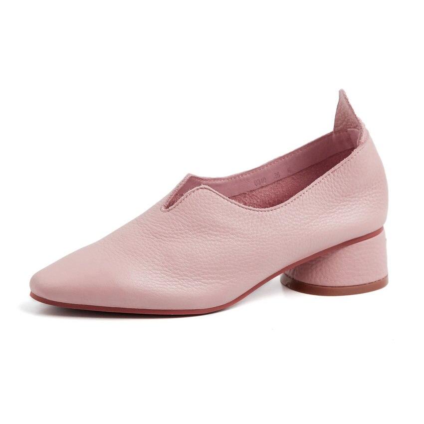 Talons Med Bout Sandales 34 Sur Taille Solide rose blanc 39 Style Doux Automne Noir Esveva Peu Chaussures Rond Ressort bleu Glissement Profonde 2019 Femmes Pompes FqwYIXZ