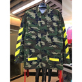 Off White Jackets 2017 fashion design Men Women Camouflage thin Jacket Camo Military Outwear Hip hop Yellow twill Virgil Abloh