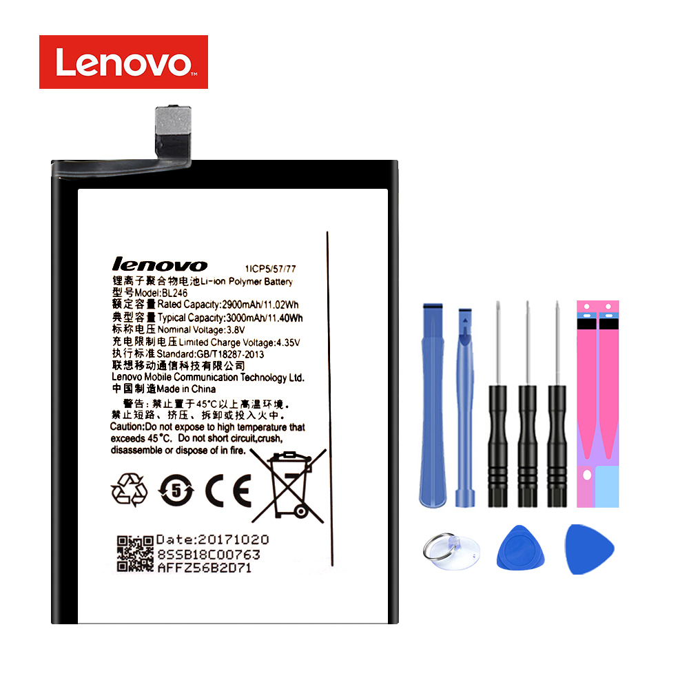 Original BL246 para Lenovo VIBE Shot Z90 Z90-7 Z90-3 z90a40 reemplazo de la batería Li-ion recargable móvil Batteria Akku 3000 mah