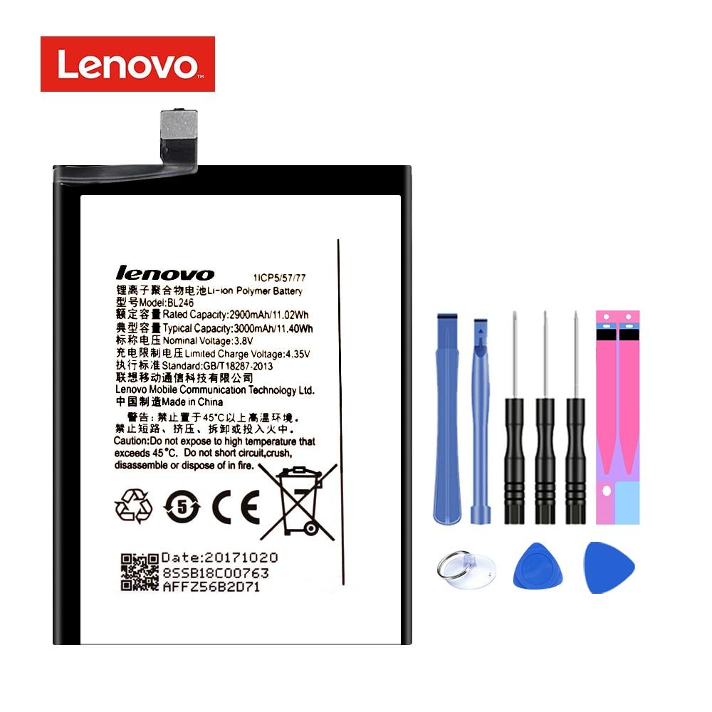 Original bl246 para lenovo vibe tiro z90 Z90-7 Z90-3 z90a40 bateria de substituição li-ion recarregável móvel batteria akku 3000mah