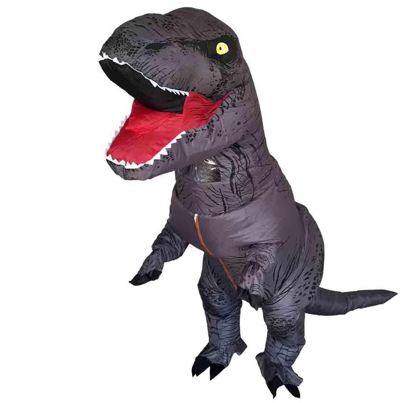 Новый Цвет t rex надувные костюмы для взрослых Хэллоуин Праздник динозавр Косплэй Аниме Костюм Бесплатная отправка 1 шт. насос Вентиляторы
