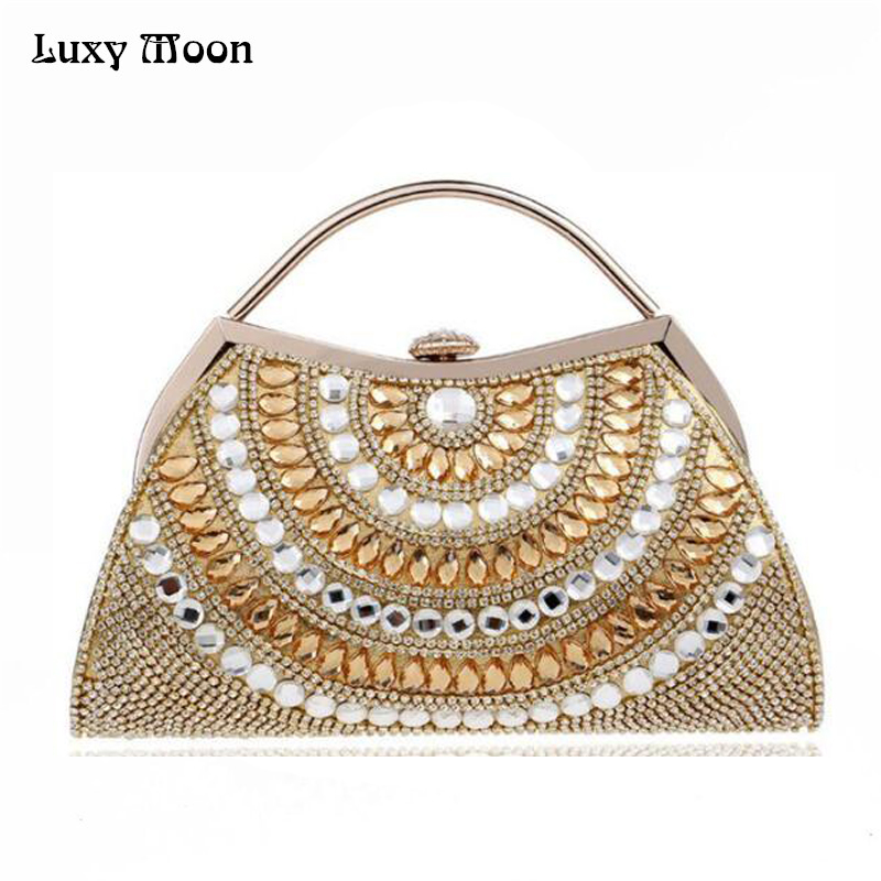 Female Diamond Day Clutch 2016 High-grade Banquet Party evening bag Golden Silvery Red Black Blue Shoulder Chain Hand Bags ZD416 newest design evening bags ring diamond clutch chain shoulder bag purses wedding party banquet bag blue gold green red 88621 d