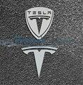 Envío gratis car Styling cola divisa del emblema de auto exterior 3D decoración aleación de níquel para TESLA MODEL S X S60 S85D SP85 Roadster