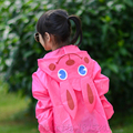 Unisex Kids Cute Waterproof Cartoon Hooded Raincoat Rain Jacket Poncho For Kids Children Suit Age 3-8 Years