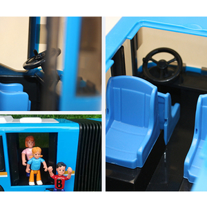 Image 4 - RC Car 6 Channel 2.4G Remote Control Bus City Express High Speed One Key Start Function Bus with Realistic sound and Light