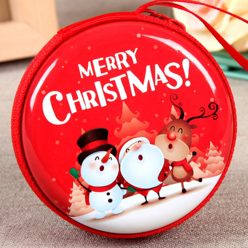 Mini Tin Box Sealed Jar Small Storage Cans Baroque Christmas Coin ...