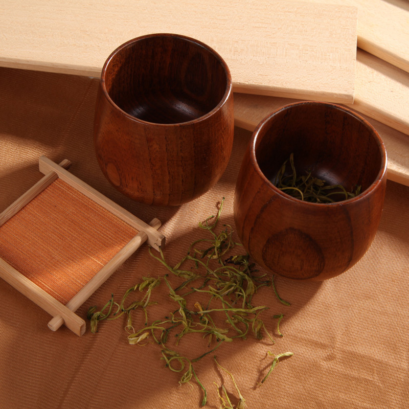 Chinese Style Primitive Handmade Natural Spruce Wooden Tea