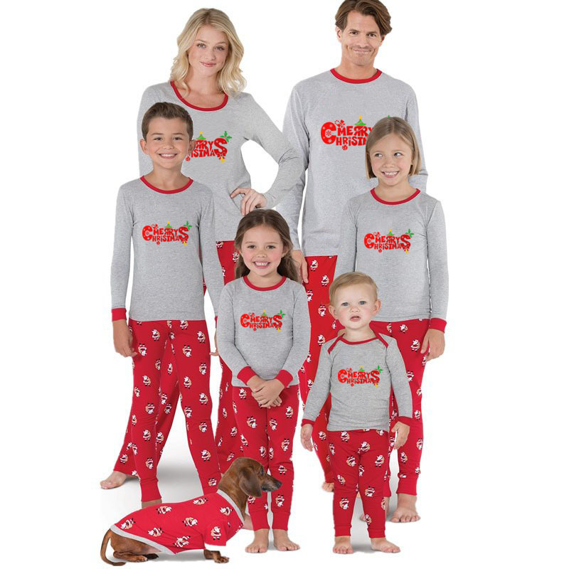 family look christmas pajamas mother mom dad and daughter