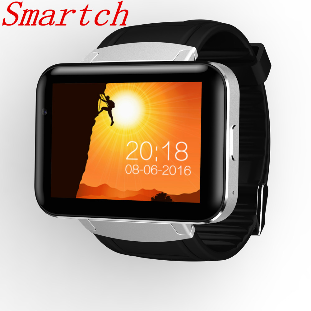 Smartch DM98 Smart Watch Phone MTK6572 2.2 inch IPS HD 900mAh 512MB Ram 4GB Rom Android 4.4 3G WCDMA GPS WIFI Smartwatch Stock dz09 smartwatch phone updated version android 4 4 1 54 inch 3g mtk6572 1 2ghz dual core 512mb ram 4gb rom bluetooth smart watch