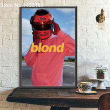 Frank Ocean Poster Rapper Music Star Blond Posters and Prints Wall Art Canvas Painting Picture for Bar Room Home Decor(China)