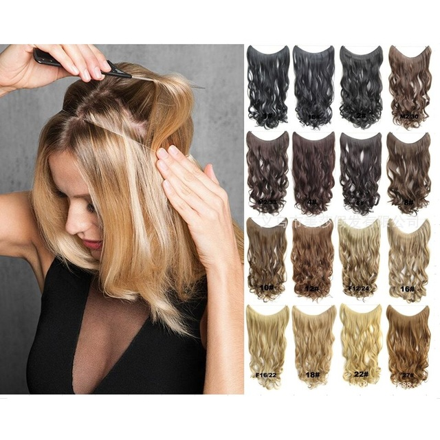 Perfect Halo Lady Hair Braider Flip Hair Extensions Synthetic Hair