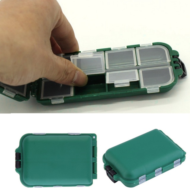 Small Green Utility Box 10 Compartments