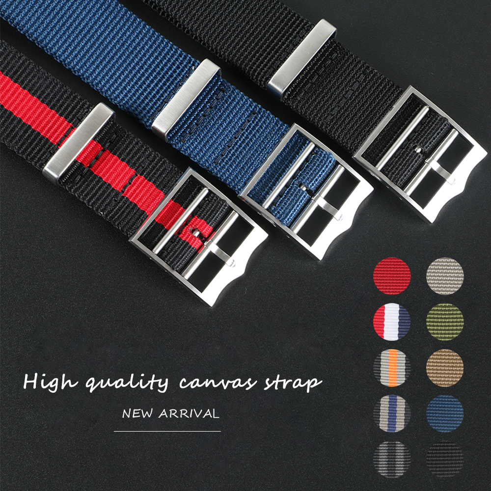 Sports Military Nylon Nato Zulu Parachute Watchband Watch Strap For Tudor Black Bay 22mm 21mm Bracelet Accessories French Troops