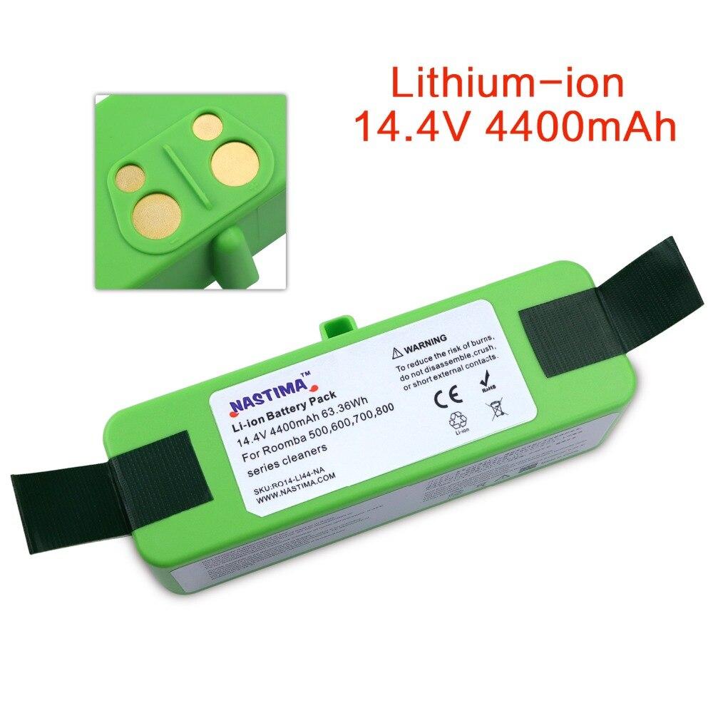 NASTIMA 4400 mah Li-ion Batterie Pour iRobot Roomba Cleaner 500 600 700 800 Série-600 620 650 700 770 780 800 880