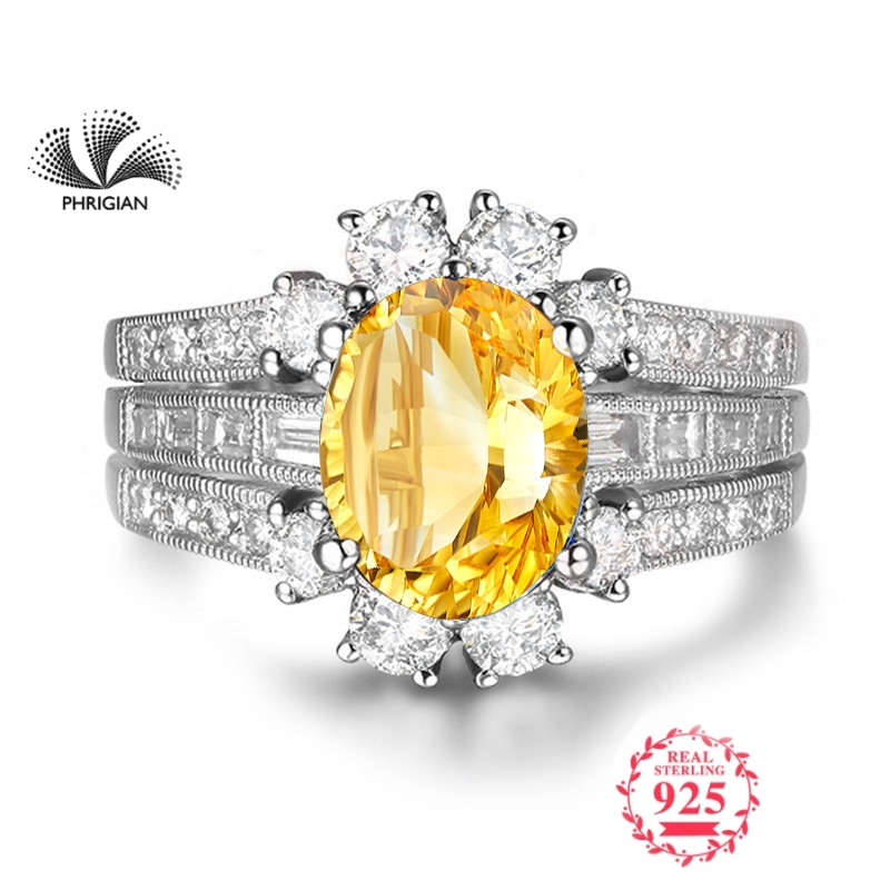 NOT FAKE Fine natural Engraving Sterling silver  gemstone oval cut ring boutique custom jewelry 925 carat Yellow Citrine RINGNOT FAKE Fine natural Engraving Sterling silver  gemstone oval cut ring boutique custom jewelry 925 carat Yellow Citrine RING