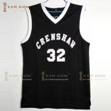 684dbc67c40 TIM VAN STEENBERGE CRENSHAW Wright 32 Basketball Jersey Stitched Sewn-Black