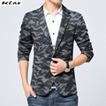 2016 Autumn Blazer Jacket Men Slim Fit Plus Size M- XXXL Men's Suit Causal Man Camouflage Clothing Denim  New Arrival