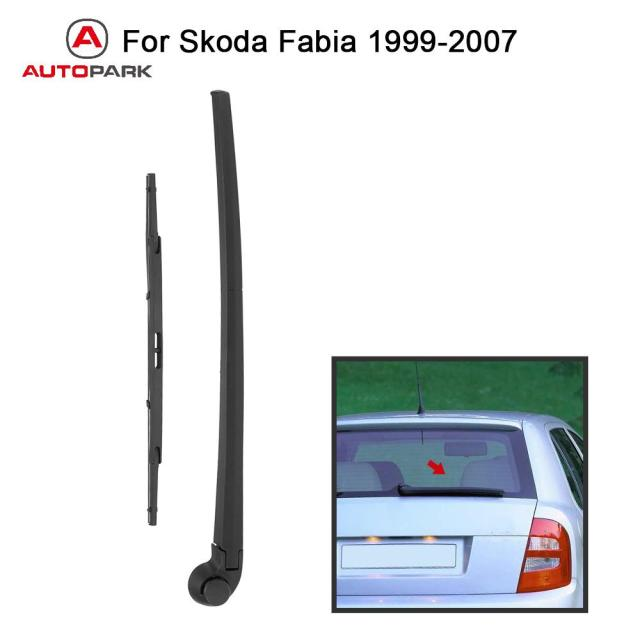 Car Rear Window Windshield Wiper Arm & Blade Complete Replacement Set for Skoda Fabia 1999-2007